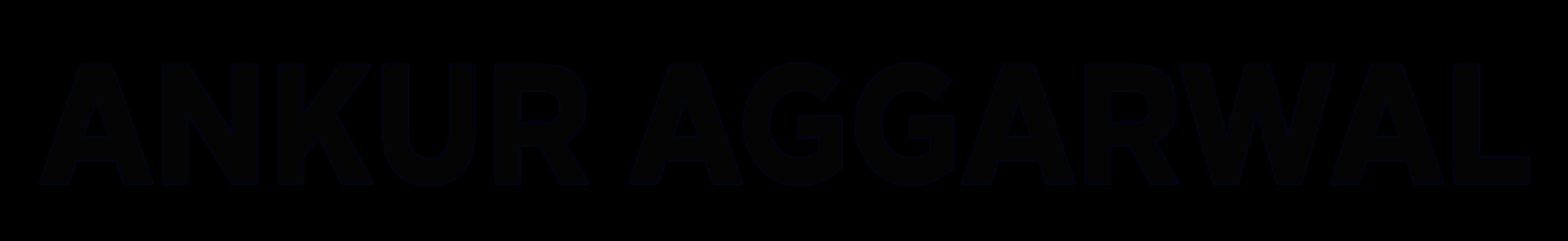AnkurAggarwal logo